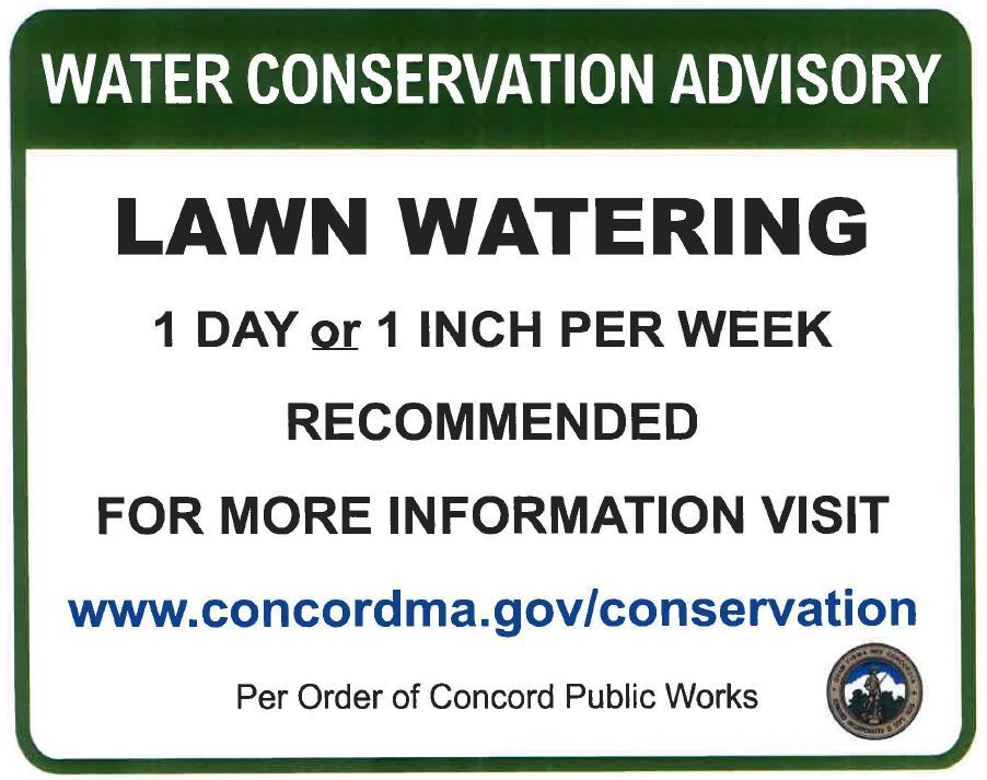 Water Conservation Advisory