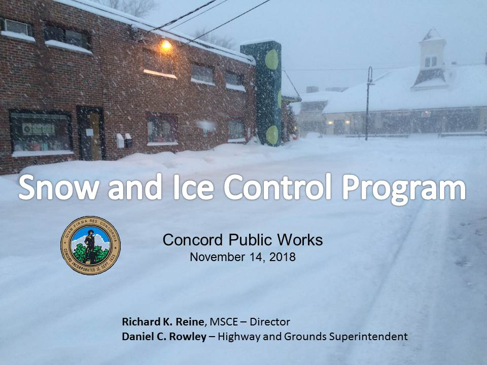 Snow and Ice Control Program