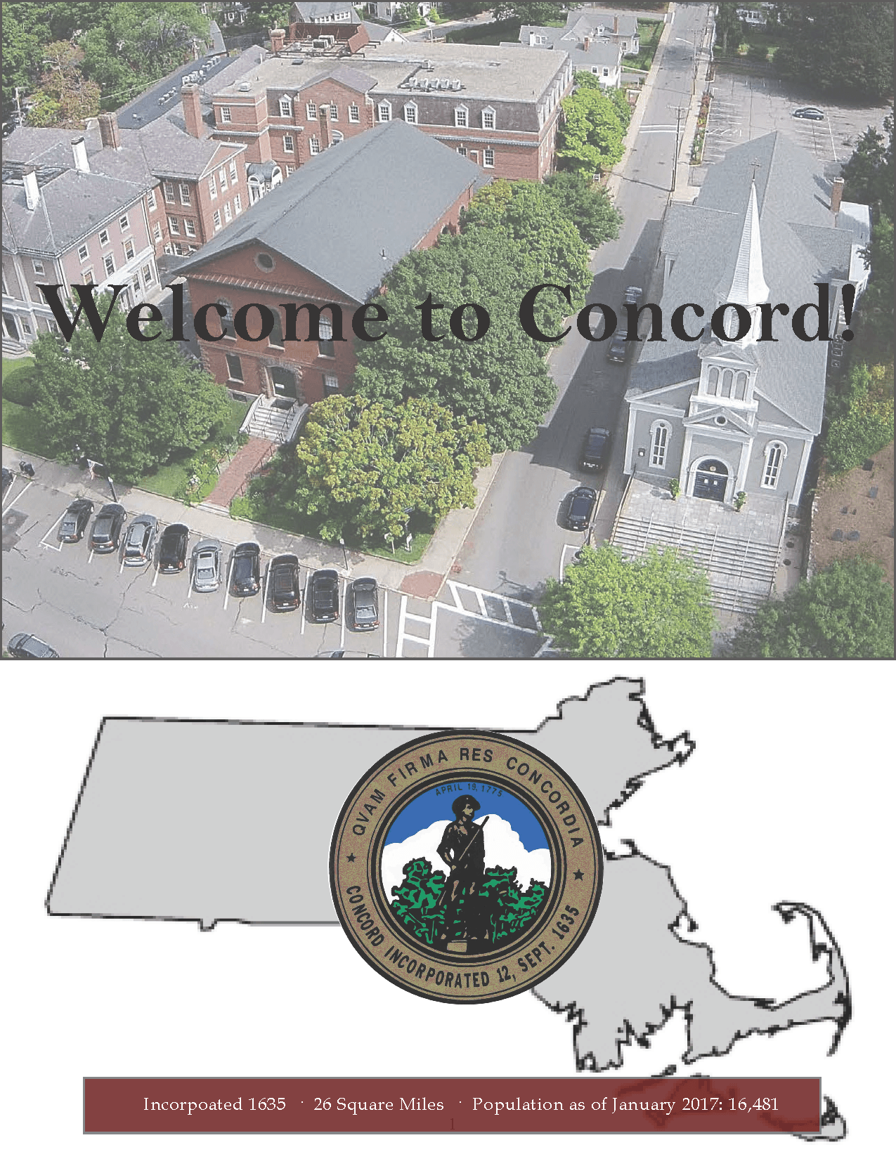 welcome to concord, new resident packet front page