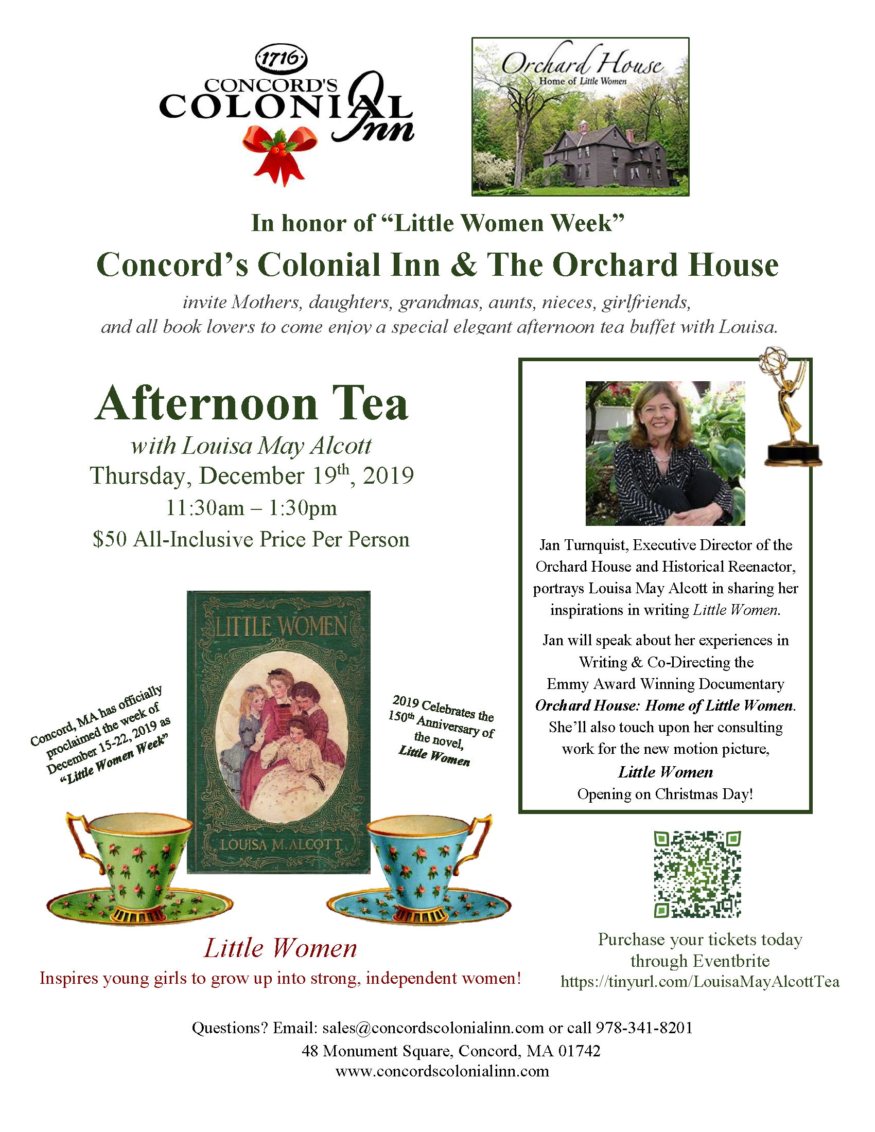 Afternoon Tea Buffet with Louisa May Alcott_Concords Colonial Inn_12.19.19. 2 (2)