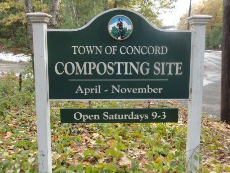 Town of Concord Composting Sign