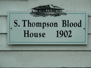 S. Thompson Blood Sign